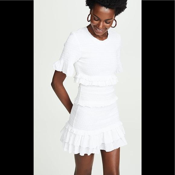 LoveShackFancy white Aveline dress worn once